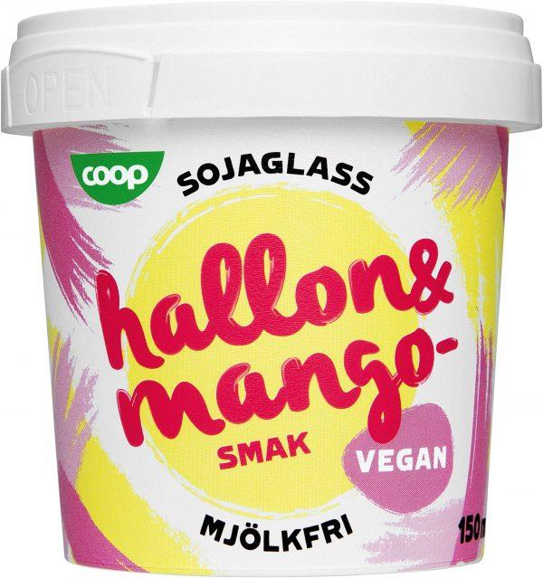Coop Sojaglass Vegan Hallon & Mango 2-pack
