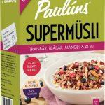 Paulúns Supermüsli Tranbär, Blåbär, Mandel & Acai
