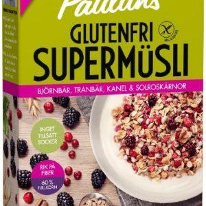 Paulúns Supermüsli Glutenfri Björnbär, Tranbär, Kanel & Solroskärnor