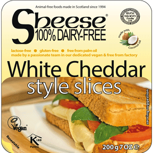 Sheese White Cheddar style slices