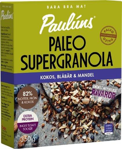 Paulúns Super Granola Kokos, Blåbär & Mandel