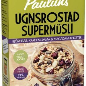 Paulúns Ugnsrostad Supermüsli Björnbär, Kardemumma & Macadamianötter