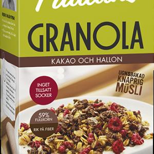 Paulúns Granola Kakao och Hallon