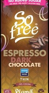Plamil So free No Added Sugar Espresso Dark Chocolate
