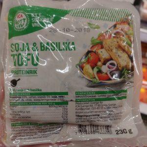 ICA Gott Liv Soja & Basilika Tofu