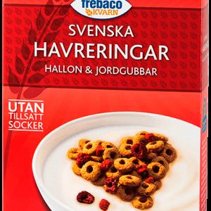 Frebaco Kvarn Havreringar Hallon & Jordgubbar